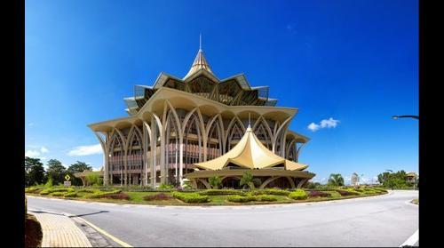 Government building in Kuching, Sarawak, Borneo, Malaysia