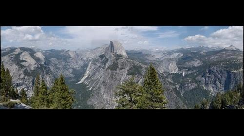 View of Half Dome from near Glacier Point