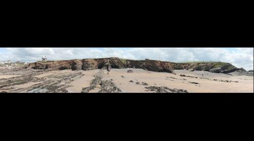 Folded and faulted rocks at Summerleaze Beach, Bude