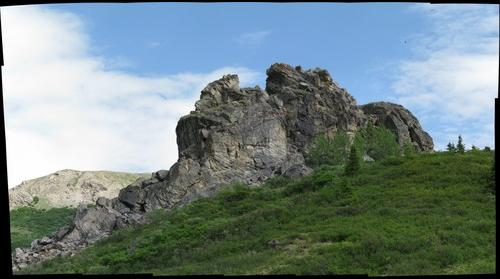 denali savage river rock outcropping