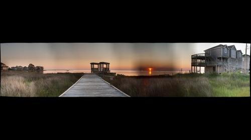 Avon_NC.Sunset.Panorama