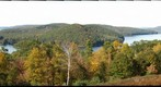 Enfield Lookout at Quabbin Resevior, Massachusetts, in fall foliage