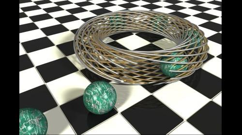 Torus Shape With Escaping Balls