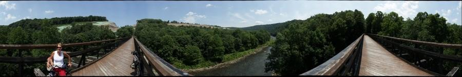 360 degree view from Pinkerton high bridge, 2012/7