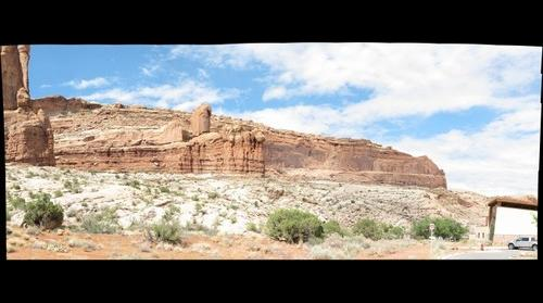 Behind the Visitors Center, Arches National Park