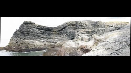 Turbidites at Fisherman's Point, Face 1, gigapan #3