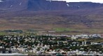 Panoramic View of Akureyri Harbour, Iceland