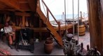 Interior of a replica of Ferdinand Magellan's ship, the Nao Victoria