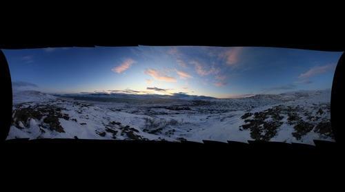 Iceland above Hotel Glymur