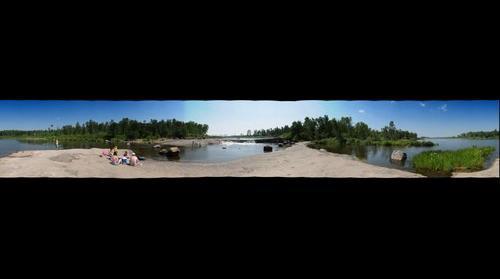 Rainbow Falls 360 Panorama - Whiteshell Provincial Park