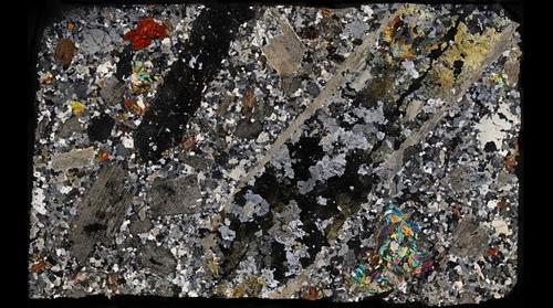 Granite Greisen with tourmaline, Cornwall, UK