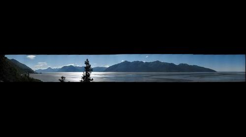 View of Turnagain Arm, Cook Inlet, Alaska