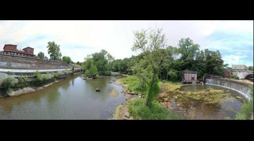 Cuyahoga River Dam in Kent