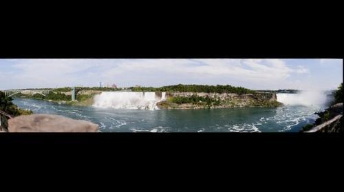 bridal veil falls & Horseshoe Falls in Niagara Falls, Ontario, Canada