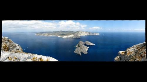 View from the summit of Es Vedra, Pityusic Archipelago, Spain
