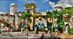 Universal Studio's Islands of Adventure Theme Park Shopping Area, Orlando Florida