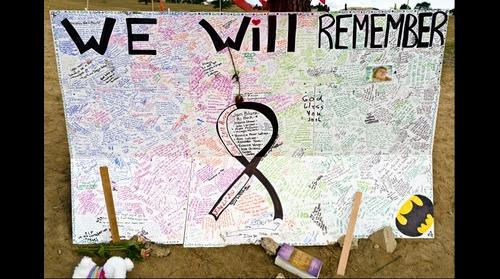 Aurora Movie Theater Shooting Tribute Board