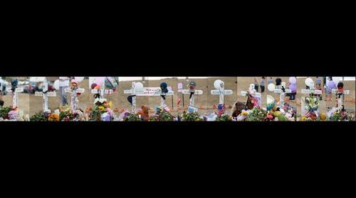 Aurora Movie Theater Tribute Crosses