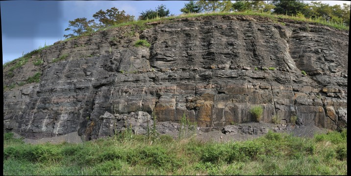 Soft sediment deformation in Hampshire Formation