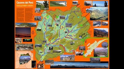 Panel infográfico del distrito Cáceres del Perú - Jimbe