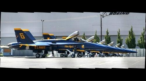 Blue Angels at Boeing Field in Seattle