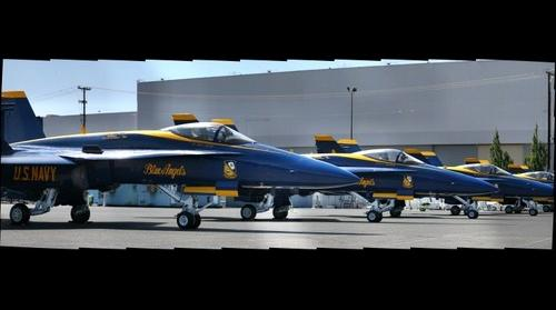 Blue Angels at Boeing Field  in Seattle 2