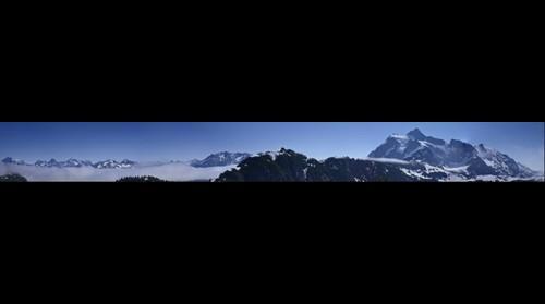 Artist Point, North Cascades Washington - North view panorama