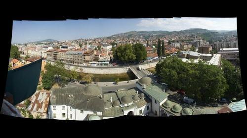 Sarajevo from minaret
