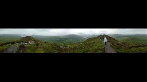 Diamond Hill climbing (Connemara National Park Letterfrack)