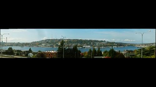 Lake Union and Queen Anne Hill, Seattle Washington USA