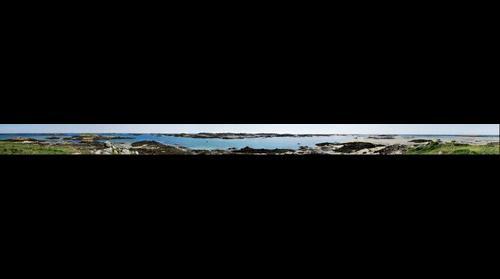 Vue panoramique de Chausey depuis un point haut
