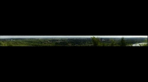 View from top Maasvallei Dilsen