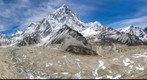 Nuptse and Khumbu Glacier from before Gorak Shep
