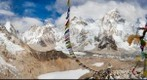 EBC, Everest, Prayer Flags, and Statue