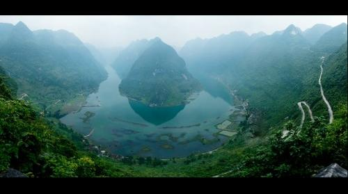 China Guangxi red water river first Gulf