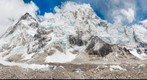 EBC, Khumbu Glacier, Everest, and Nuptse