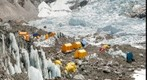 Everest Base Camp and training climbers
