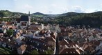 Panorama view from esk Krumlov castle