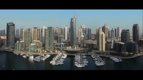 Dubai Marina Sunset Hi-Res