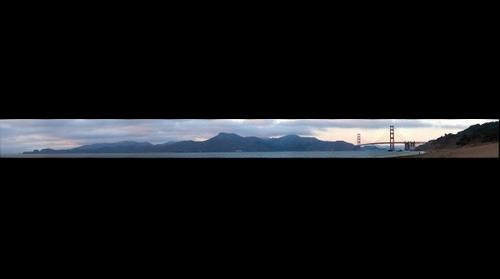 Golden Gate Bridge @ sunset 101808
