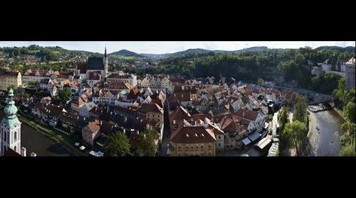 Český Krumlov panoramic view