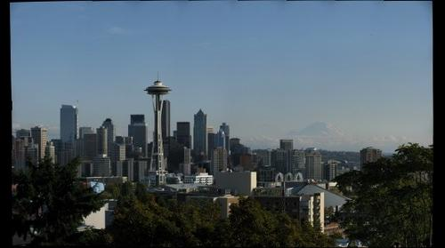 Seattle and Mt. Rainier from Queen Anne