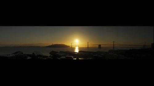 Sunrise over the Bay Bridge