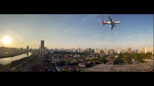Flight over São Paulo