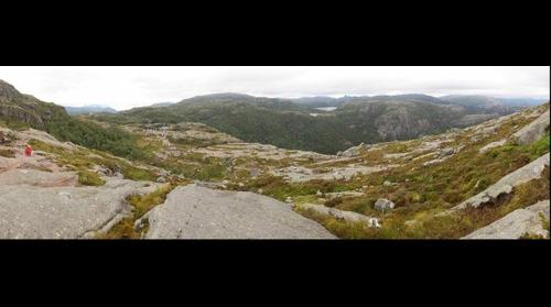 výhľad cestou na Preikestolen