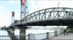 At Tom McCall waterfront Park, under the Hawthorne Bridge, in Portland Oregon