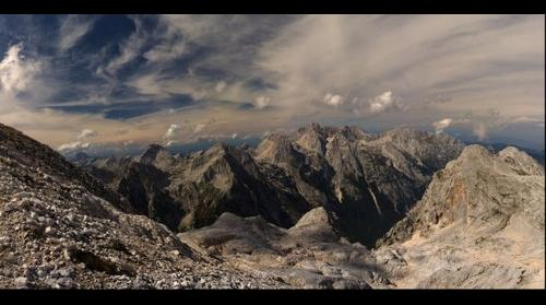 View from cottage Kredarica - Julian Alps - Slovenia