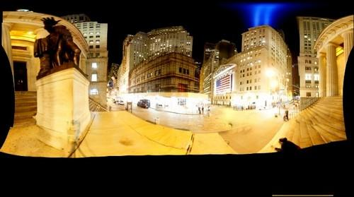 9/11 Tribute in Light over Wall Street