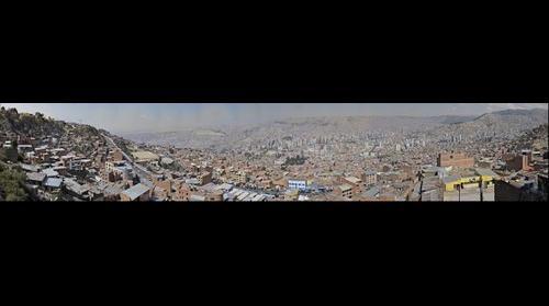 La Paz vista del centro y ladera de El Alto