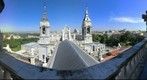 Vistas panoramicas de Madrid desde la cupula de la Catedral de la Almudena. Madrid
